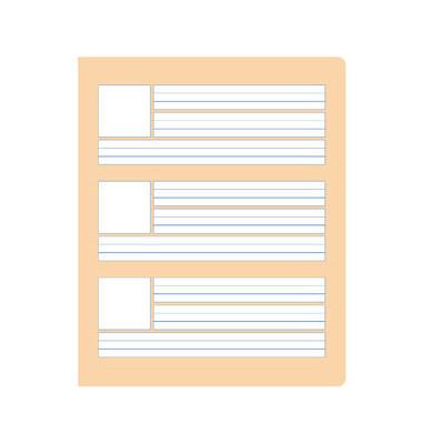 Wörterheft W.1 Quart liniert mit Rand weiß 20 Blatt