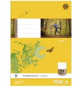 Schulheft Basic A4 Lineatur 27 liniert mit Doppelrand weiß 32 Blatt
