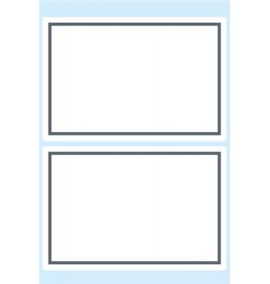 Schuletiketten neutral grauer Rand 82x55