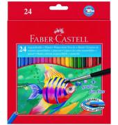 Aquarell-Buntstifte 1144 24-farbig sortiert 6 x 175mm mit Pinsel