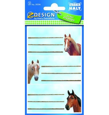 Buchschild Pferdeköpfe