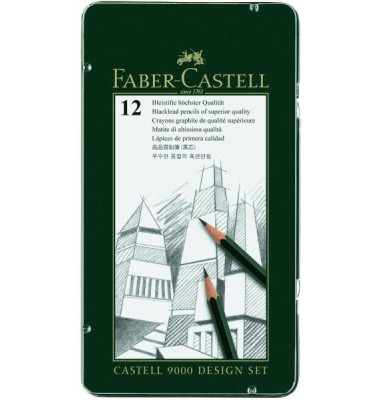 Bleistifte Castell 9000  5B-5H