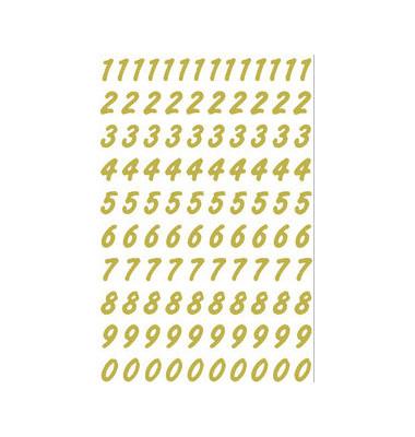 Zahl 0-9 wetterfest gold