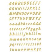 Buchstaben A-Z wetterfest gold