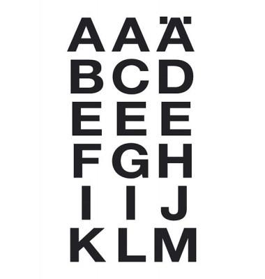 Buchstabenetikett schwarz
