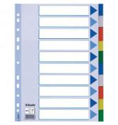 Kunststoffregister 15261 blanko A4 0,12mm farbige Taben 10-teilig
