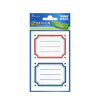 Buchschild rot blauer Rand