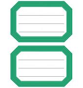 Schuletiketten neutral grün Linier 82x55