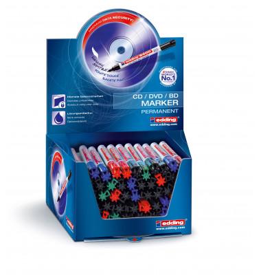 CD/DVD/BlueRay-Marker 8400 50er Etui farbig sortiert 0,5-1mm Rundspitze