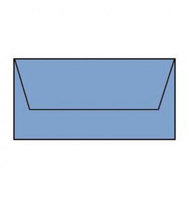 Designbriefumschläge Din Lang ohne Fenster nassklebend 100g dunkelblau 5 Stück