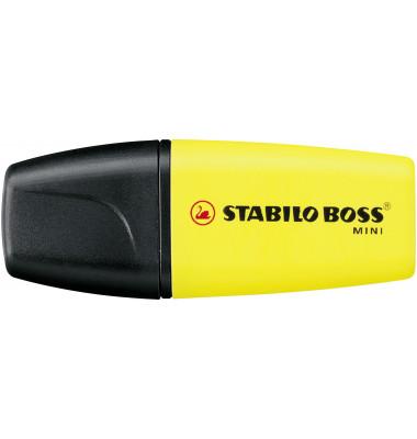 Textmarker Boss Mini gelb 2-5mm Keilspitze