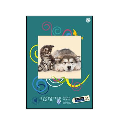 Tonzeichenpapierblock Edition Dürer A3 farbig sortiert 10 Blatt 053623000