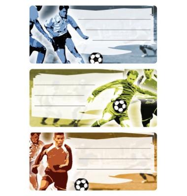 Schuletiketten Fußball
