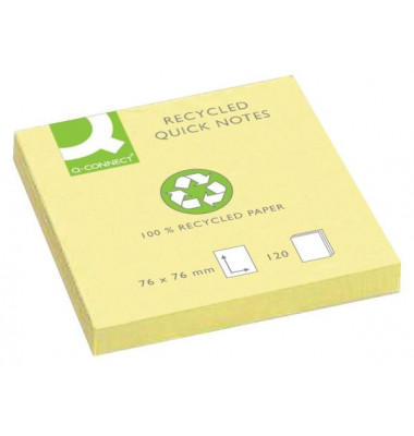 Haftnotizen Recycl. gelb 76x76mm 100 Blatt