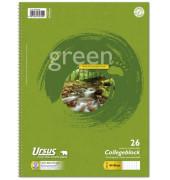 Collegeblock Green 608575026, A4 kariert, 90g 80 Blatt