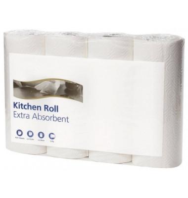Küchenrollen 120270 Extra absorbent 2-lagig hochweiß 4 Rollen à 64 Blatt