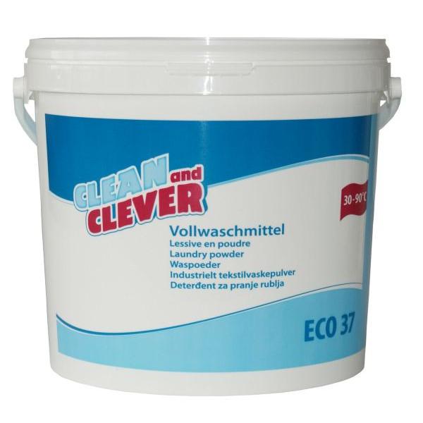 clean and clever vollwaschmittel eco37 pulver eimer 10 kg. Black Bedroom Furniture Sets. Home Design Ideas