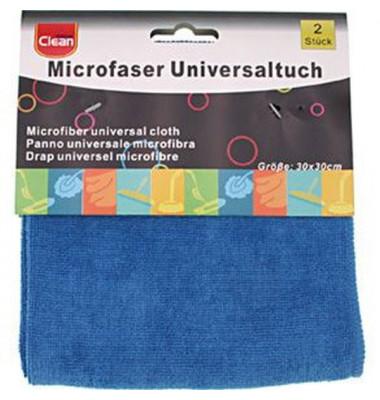 Universal-Reinigungstuch Mikrofaser 30 x 30 cm 2 Stück