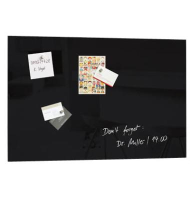 Glas-Magnetboard artverum 60x40cm schwarz GL120