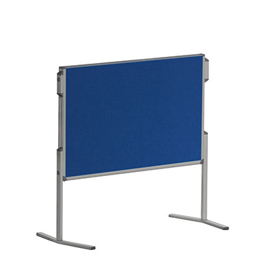 Moderationstafel Pro MT880303, 120x150cm, Filz + Filz (beidseitig), pinnbar, klappbar, blau + blau