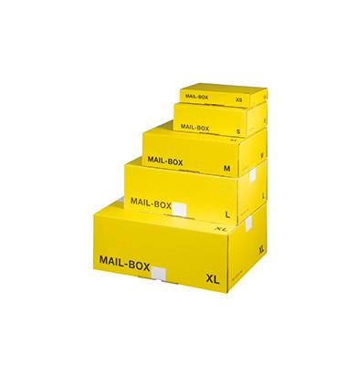 Versandkarton XS 250x156x40 mm gelb 1 Stück