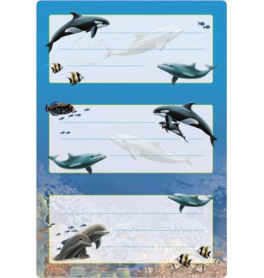 Schuletiketten Delfine