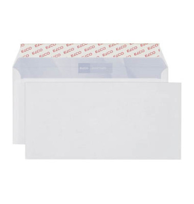 Briefumschläge Office Din Lang+ ohne Fenster haftklebend 80g hochweiß 200 Stück
