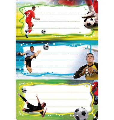 Schuletiketten Fussball