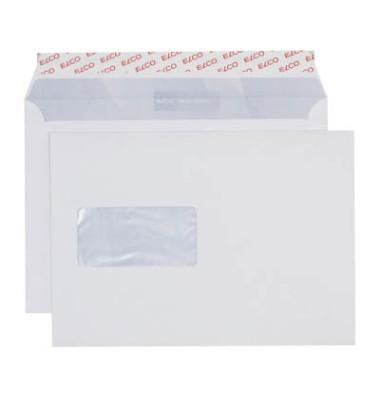 Versandtaschen Office C5 mit Fenster haftklebend 100g weiß 100 Stück Öffnung an der langen Seite