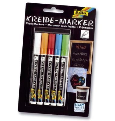 Kreidemarker 1-2mm 5 Farben