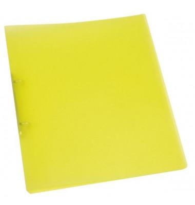 Ringbuch A4 gelb-transparent 2-Ring Ø 25mm
