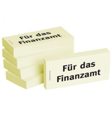 """bedruckte Haftnotizen """"Für das Finanzamt"""""""
