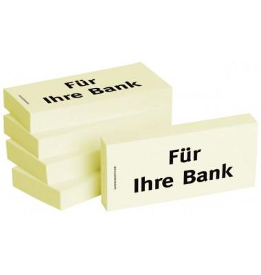 """bedruckte Haftnotizen """"Für Ihre Bank"""""""