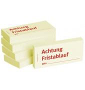 """bedruckte Haftnotizen """"Achtung Fristablauf am"""""""