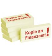 """bedruckte Haftnotizen """"Kopie an Finanzamt"""""""
