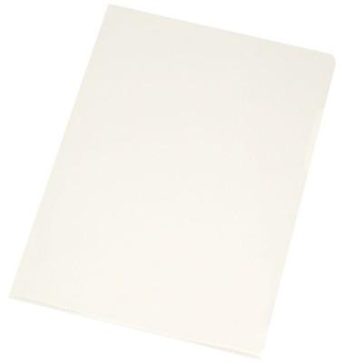 Sichthüllen KF26123, A4, farblos, glasklar-transparent, glatt, 0,12mm, oben & rechts offen, PP