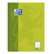 Collegeblock Schule A4+ weiß liniert gelocht mit Rand 80 Blatt