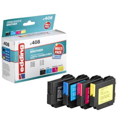 Druckerpatrone EDD-408 ersetzt LC-970/1000BK/C/M/Y schwarz,cyan,magenta,gelb