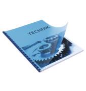 Umschlagfolien 20200034 A4 PVC 0,2 mm blau-transparent glänzend 100 Stück