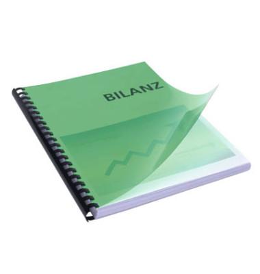 Umschlagfolien 20200044 A4 PVC 0,2 mm grün-transparent glänzend 100 Stück