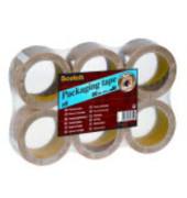 Packband 6890T386, 38mm x 66m, PVC, handabreißbar, leise abrollbar, transparent