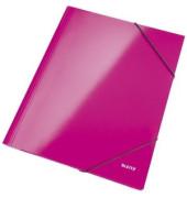 Eckspannmappe 3982 WOW A4 250g pink metallic