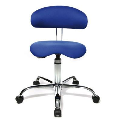 Drehhocker Sitness 40 blau mit Rollen