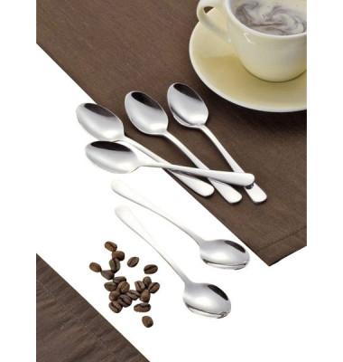 Kaffeelöffel Sylvia 13,7cm silber Edlestahl 12 Stück