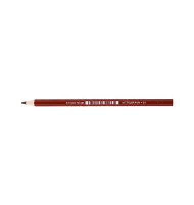 Buntstifte Supersticks Classic mittelbraun 8 x 175mm