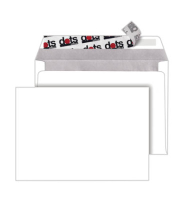 Briefumschläge C6 ohne Fenster haftklebend 80g weiß 250 Stück