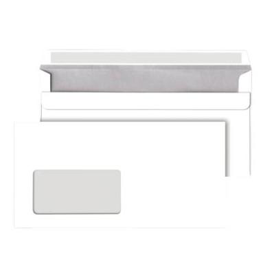 Briefumschläge Din Lang mit Fenster selbstklebend 75g weiß 250 Stück
