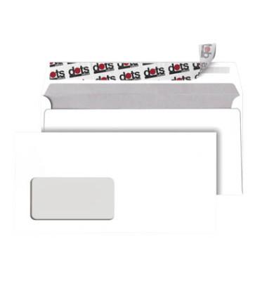 Briefumschläge Din Lang mit Fenster haftklebend 80g weiß 250 Stück