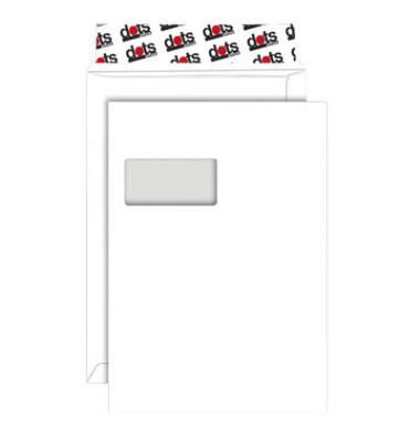 Versandtaschen C4 mit Fenster haftklebend 120g weiß 100 Stück