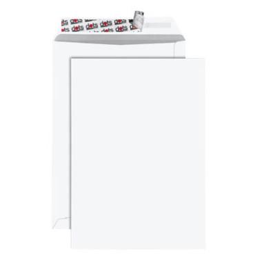Versandtaschen C4 ohne Fenster haftklebend 120g weiß 100 Stück
